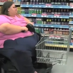 Fat Woman on Mobility Scooter