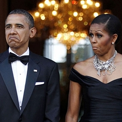 Funny Barack Obama and Michelle Obama