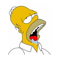 Homer Simpson Drooling