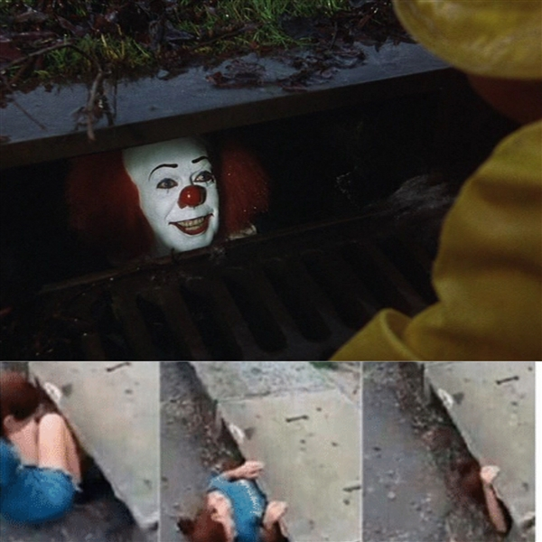 Pennywise in sewer