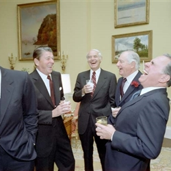 Reagan White House Hysterical Group Laughter