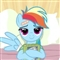 Cute Book Holding Rainbow Dash