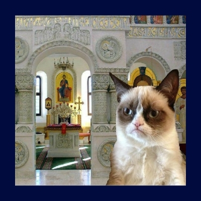 Grumpy Orthodox Cat