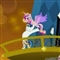 Shining Armor throwing Cadence