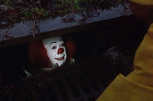when they closed down the circus, pennywise the clown went a little loopy! started following bastian from never ending story around in this horror movie. the perv.