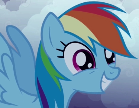 rainbow dash excited
