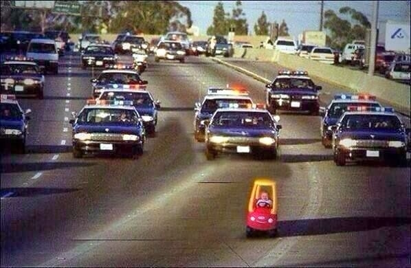 police chase baby