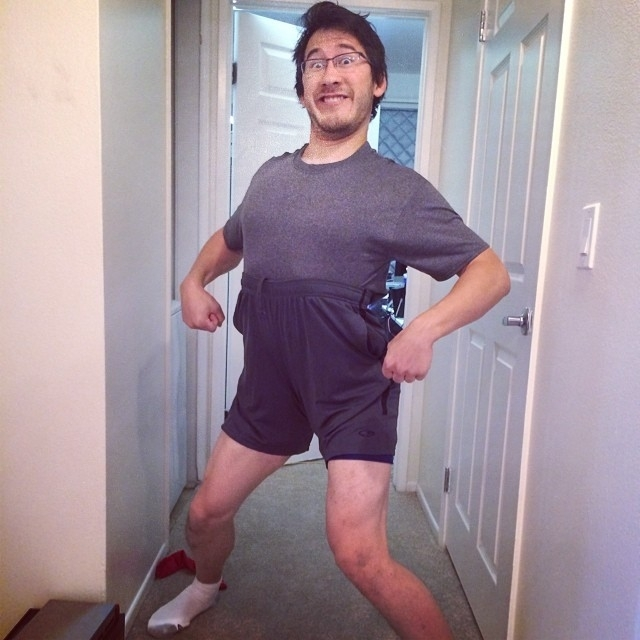Markiplier in workout outfit