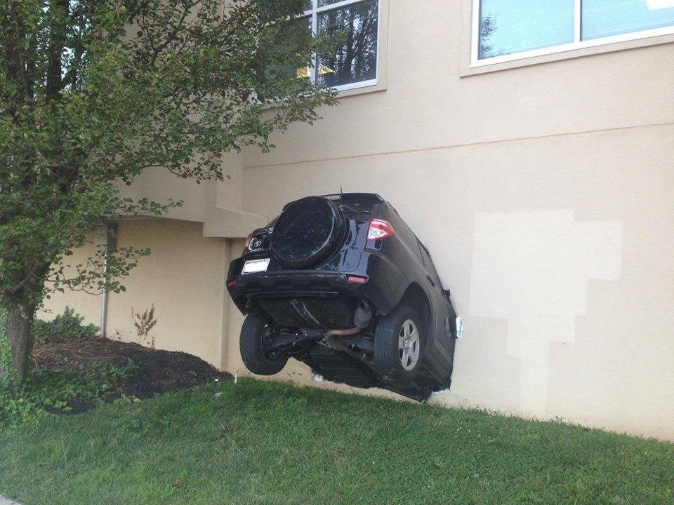 car crashes into building car crashes into building meme generator