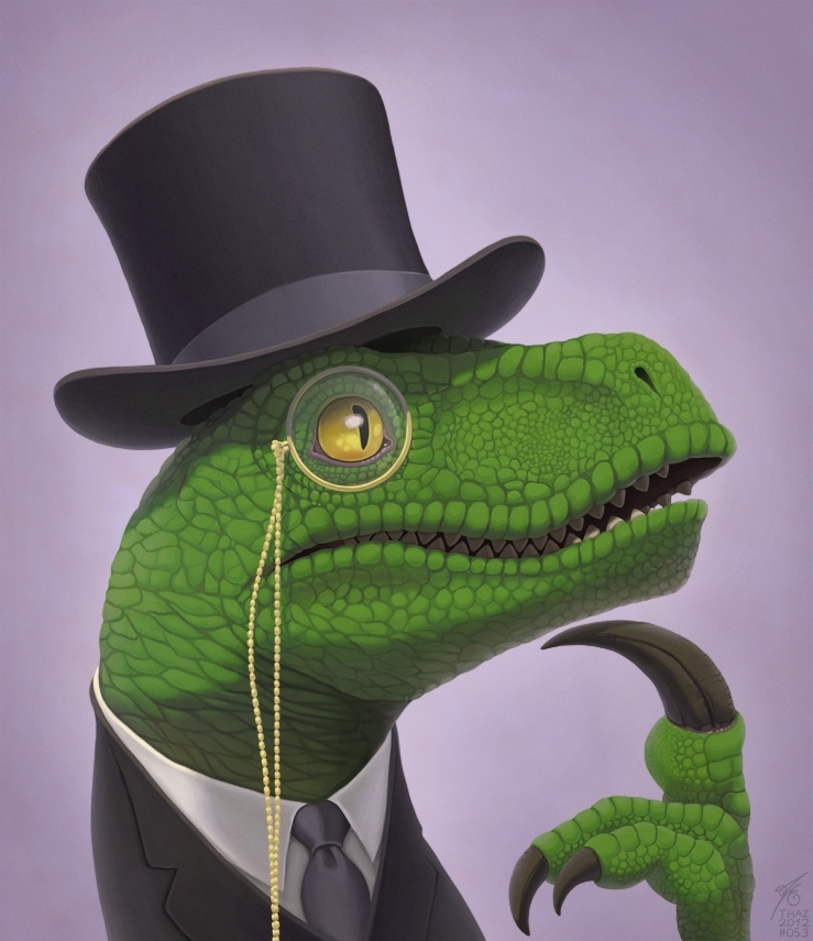fancy philosoraptor