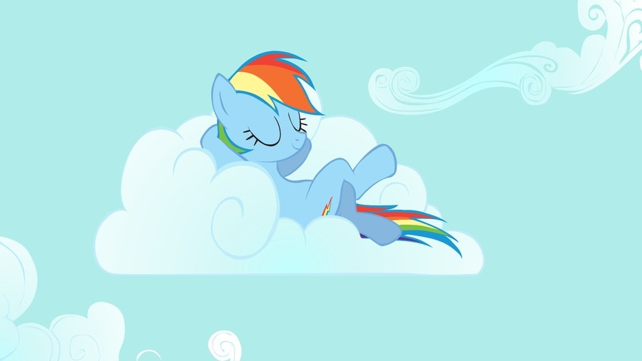 Rainbow Dash Cloud
