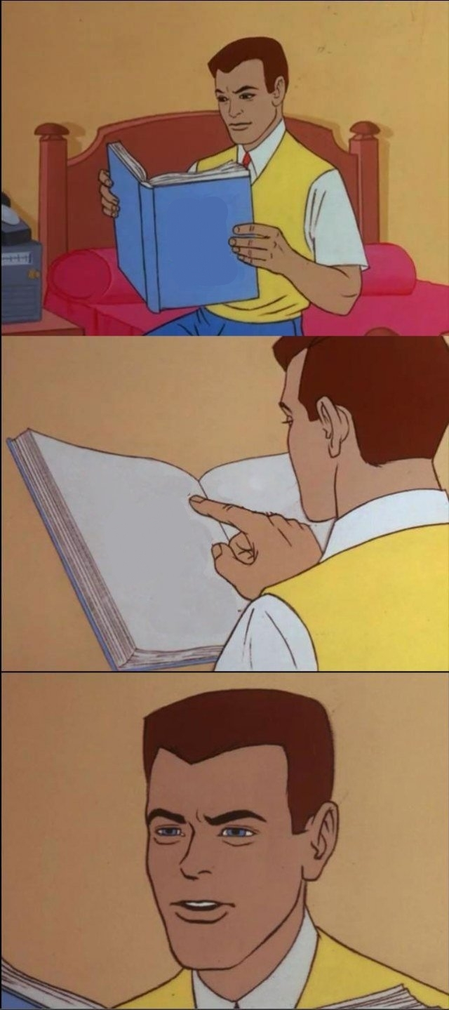 Peter Parker Reading a Book
