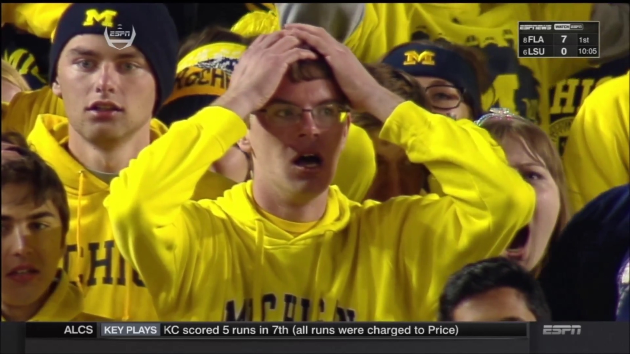 Shocked Michigan State Fan