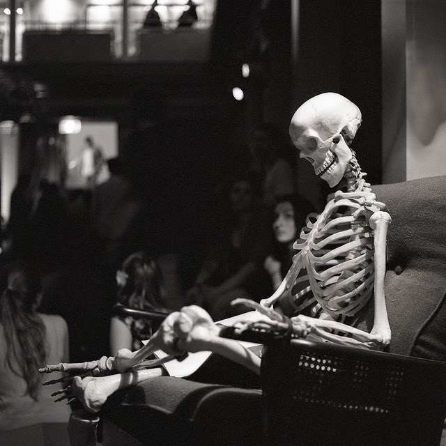 Waiting Skeleton Chair