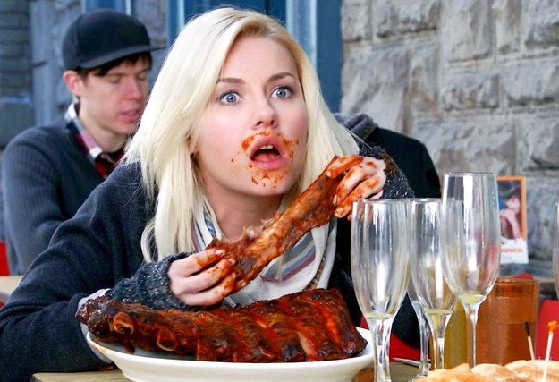 Image result for eating ribs