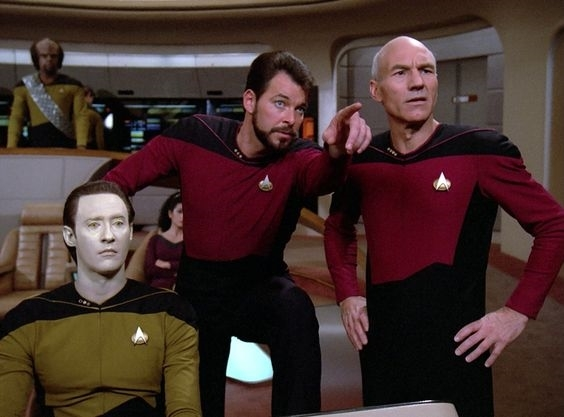 Image result for picard and riker