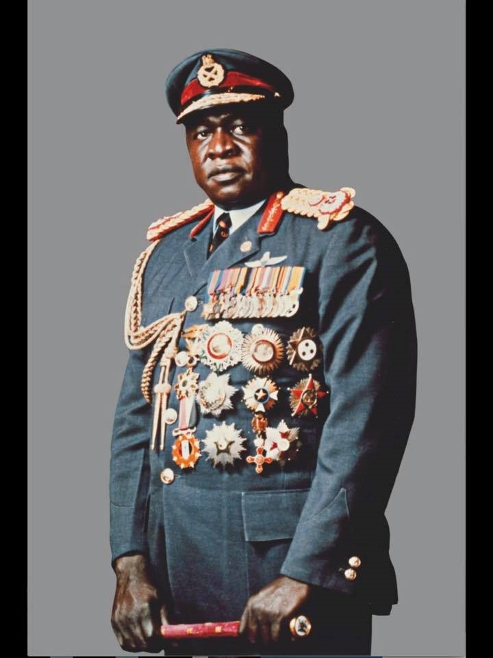 His Excellency President for Life, Field Marshal Al Hadji Doctor Idi Amin, VC, DSO, MC, CBE, Lord of all the Beasts of the Earth and Fishes of the Sea, and Conqueror of the British Empire in Africa in