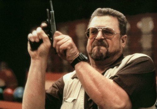 Walter Sobchak with gun