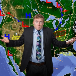 Absolutely Clueless Weatherman