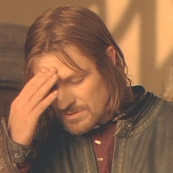 frustrated boromir