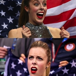 Ashley Wagner is Excited then Disappointed