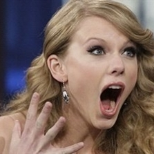 Surprised Taylor Swift