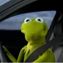 Kermit the Frog driving