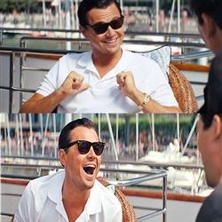 wolf of wall street Laughing Leo