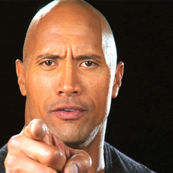 Dwayne Johnson pointing