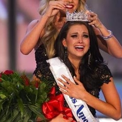 crying pageant winner
