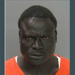 big black man in a jail