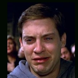 crying peter parker