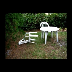 Lawn Chair Blown Over