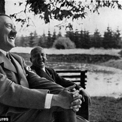Nazi laughing Hitler fooling right-wingers