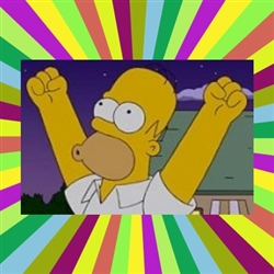 Excited homer simpson