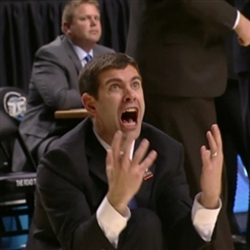 Excited Brad Stevens