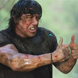 rambo thumbs up
