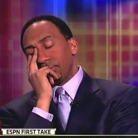 Stephen A Smith's face palm
