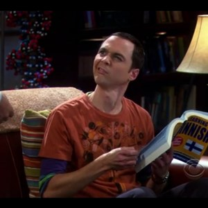 Sheldon's facial expression