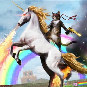 Epic Rainbow Unicorn Cat