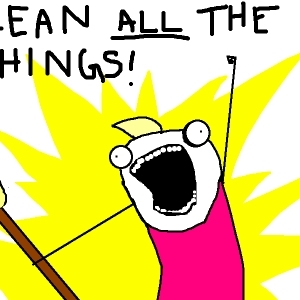 clean all the things