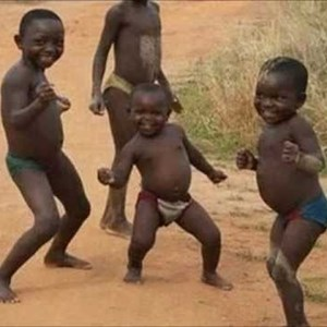 excited african kids