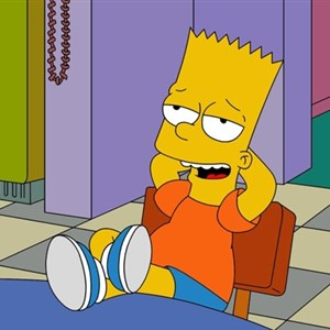 Bart Simpsons relax