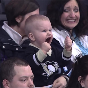 Excited Hockey Baby