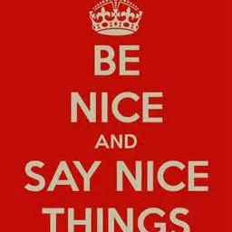 Be nice and stay calm