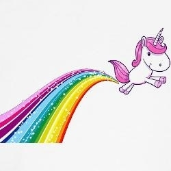 Unicorn farting rainbows