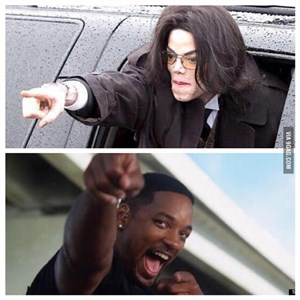 Will Smith and Michael Jackson