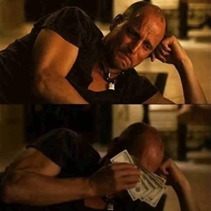 wipe tears with money