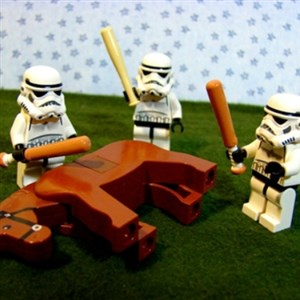 Storm troopers beating dead horse