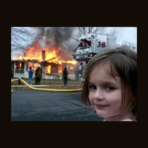 burning house girl